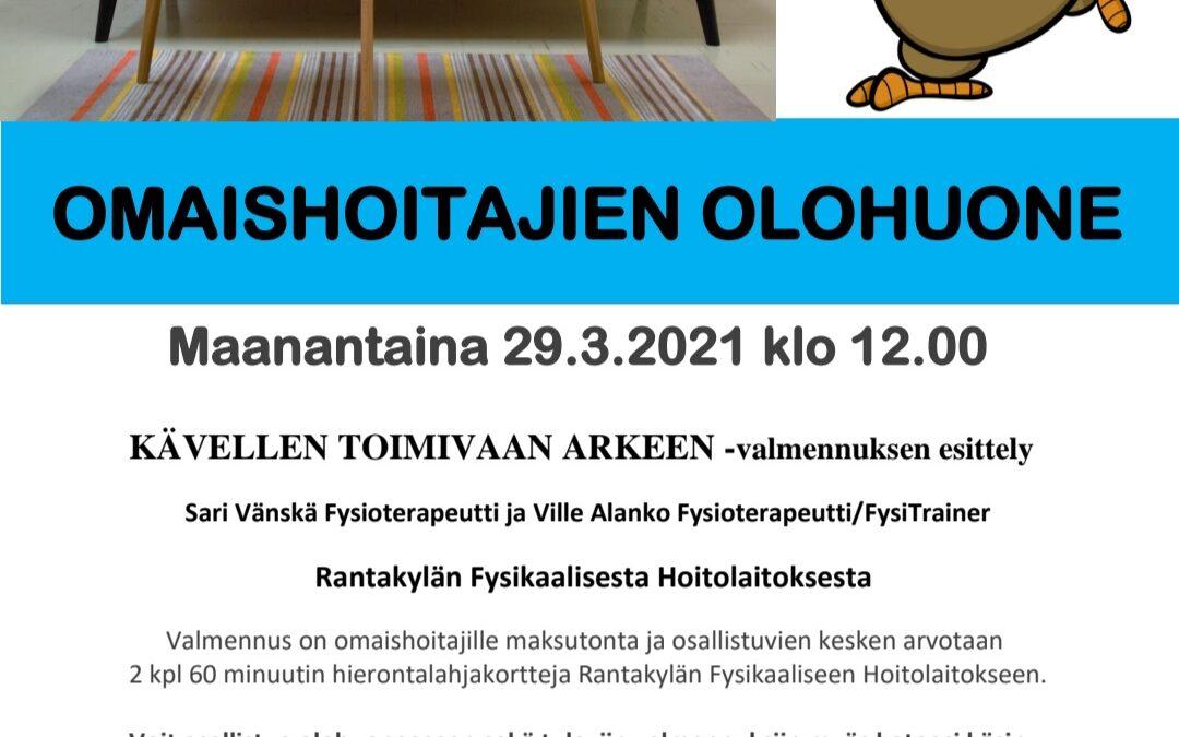 OMAISHOITAJIEN OLOHUONE 29.3.2021